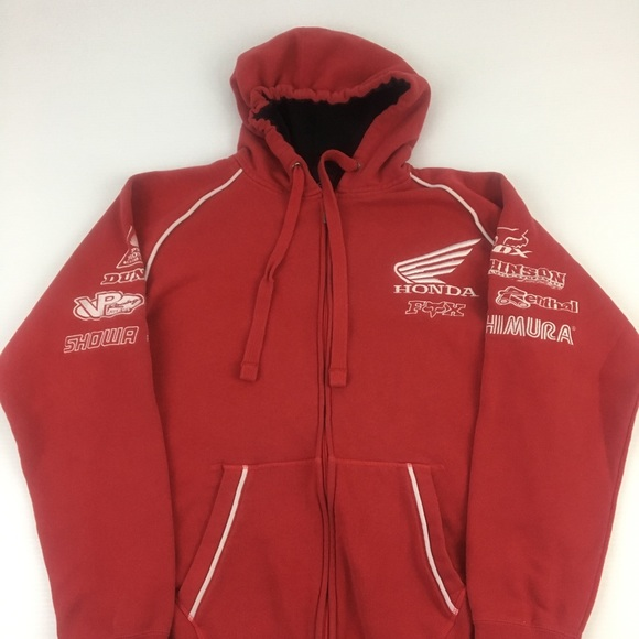 8ea3636c36 Fox Jackets & Coats | Racing Honda Jacket Hoodie Size Large | Poshmark